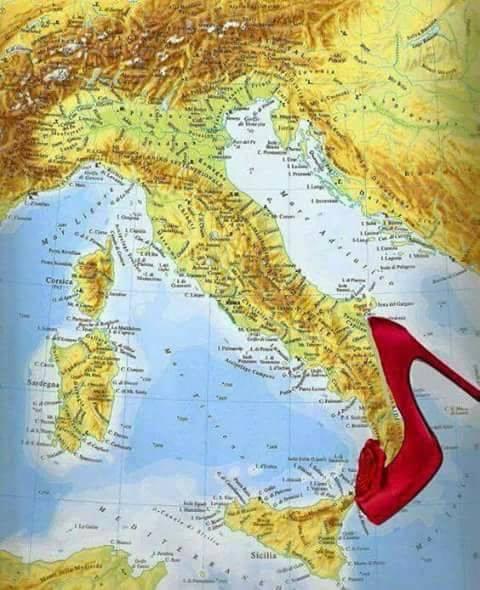 Mapa Jizni Bota Italie Podpatek Boty Italie Co Je To Sever